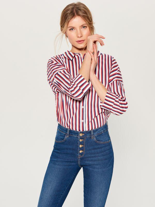 Džinsa bikses high waist skinny fit - tumši zils - VG897-59J - Mohito - 2