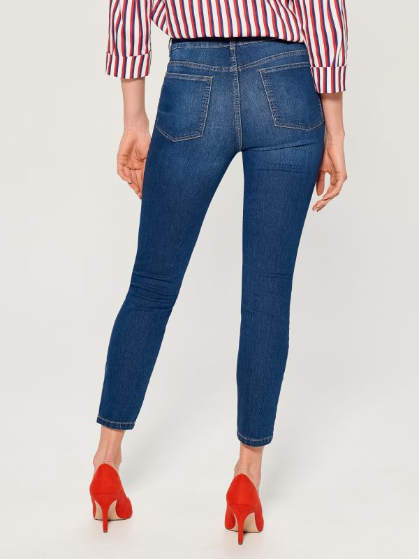 Džinsa bikses high waist skinny fit - tumši zils - VG897-59J - Mohito - 4