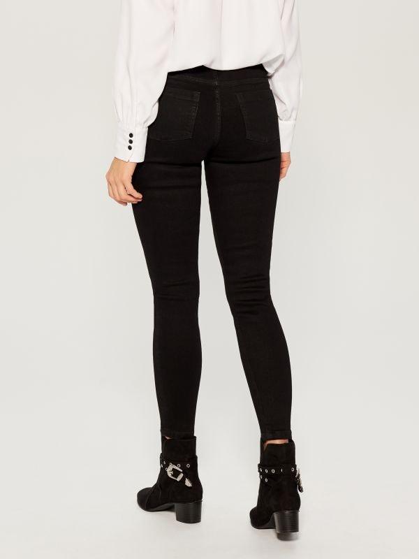 Džinsa bikses ar mežģīņu rotājumu skinny fit - melns - VG903-99J - Mohito - 4