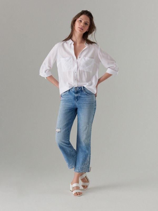 Īsas džinsa bikses bootcut  - zils - VJ219-05J - Mohito - 1