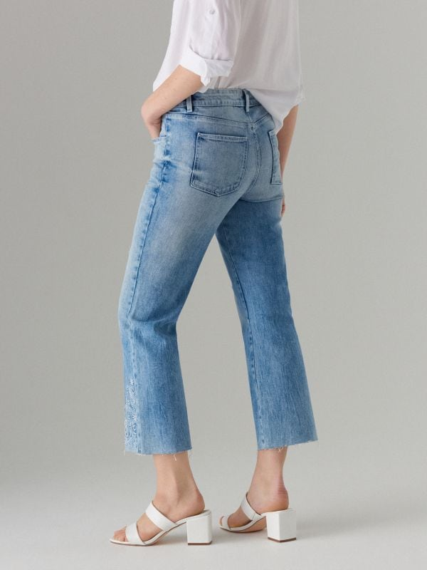 Īsas džinsa bikses bootcut  - zils - VJ219-05J - Mohito - 5