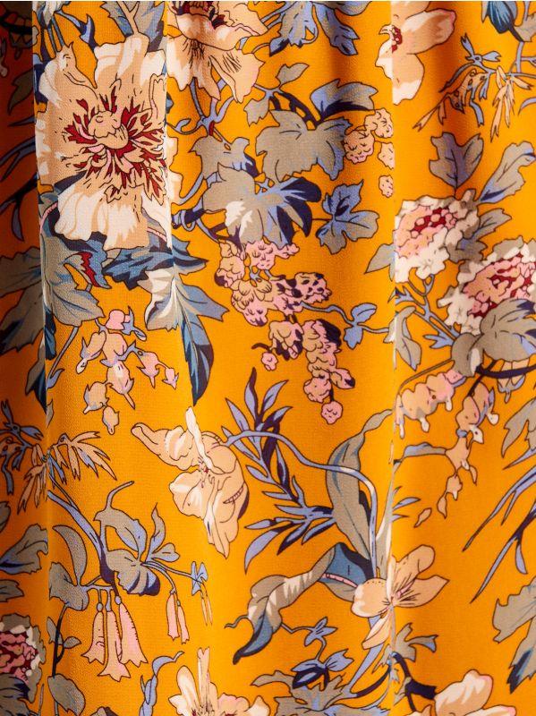 Rakstaina kleita ar garām piedurknēm - dzeltens - VJ592-17P - Mohito - 5