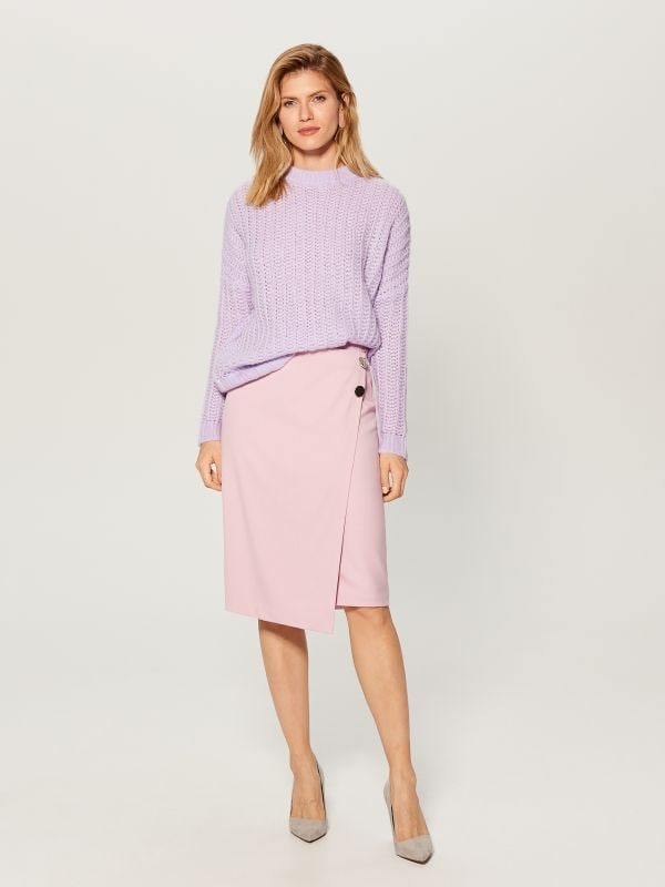 OVERSIZE džemperis ar augstu apkakli - violets - VL220-04X - Mohito - 1