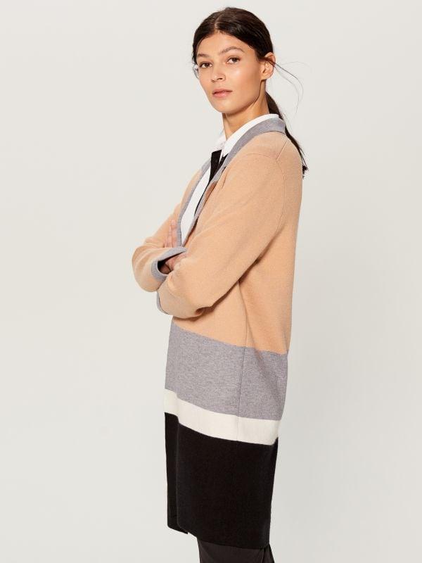 Gara jaka ar krāsainiem blokiem - bēšs - VL228-08X - Mohito - 2