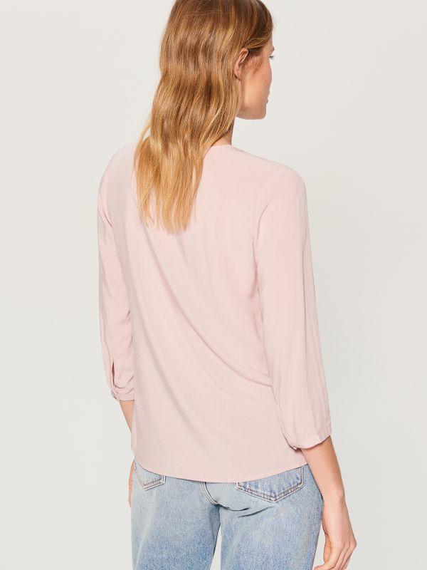 Krekls ar trīsceturtdaļu garuma piedurknēm  - rozā - VN056-39X - Mohito - 3
