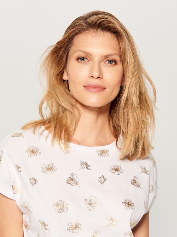 T-krekls ar apdruku - balts - VO000-00X - Mohito - 2