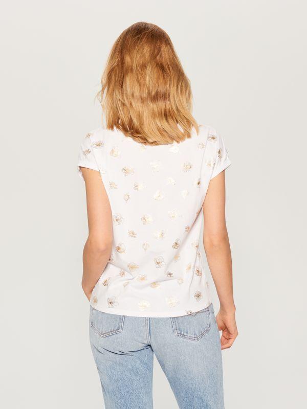 T-krekls ar apdruku - balts - VO000-00X - Mohito - 3