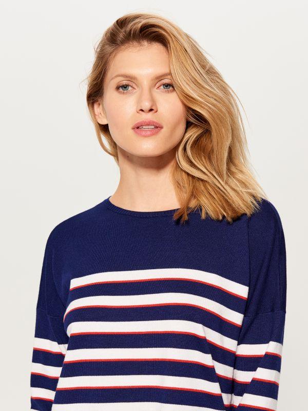 Svītrains džemperis - zils - VQ745-95P - Mohito - 4