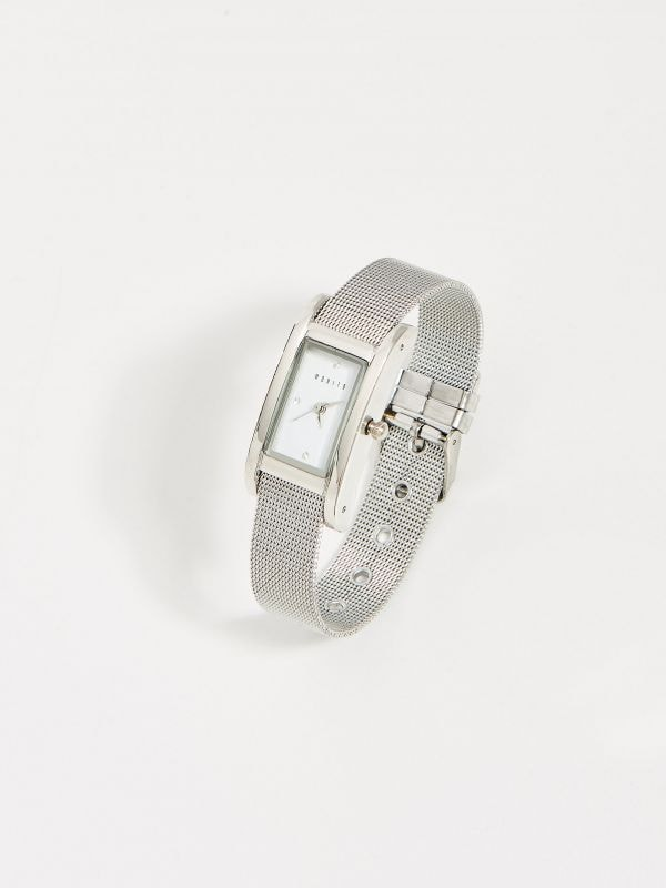 1fe82b58be1e81 4 Zegarek z kwadratową tarczą - srebrny - VQ963-SLV - MOHITO