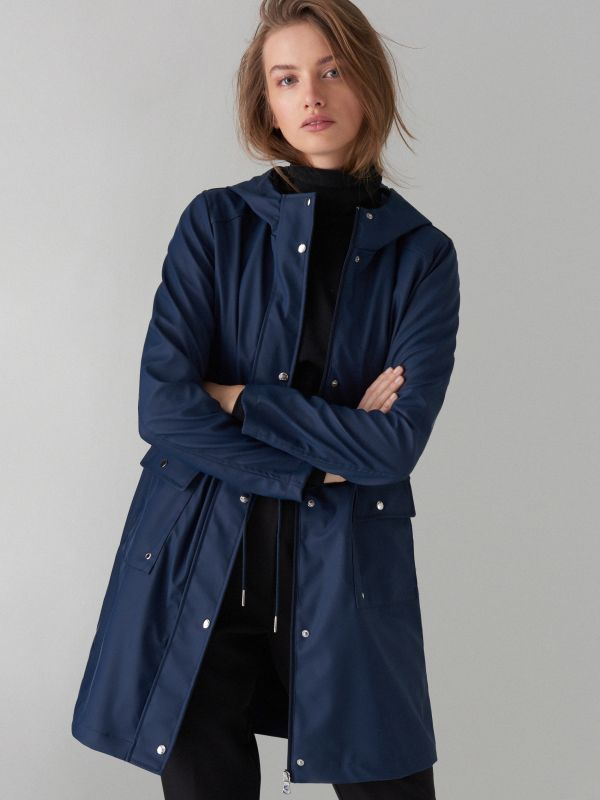 Plāna parkas tipa jaka ar kapuci - zils - VR648-95X - Mohito - 1