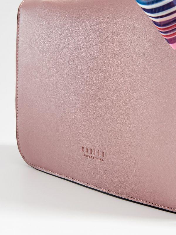 Torebka na ramię z apaszką - różowy - VR675-03X - Mohito - 4