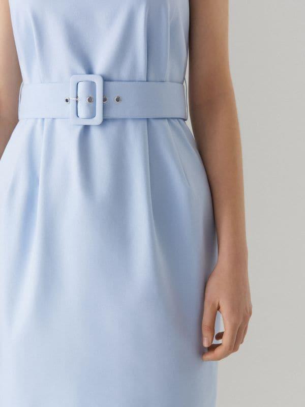 Pieguloša kleita ar jostu Celebration - zils - VU819-05X - Mohito - 2