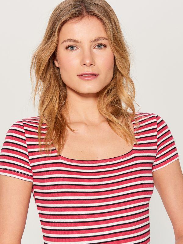 Vienkāršs T-krekls ar īsām piedurknēm - violets - VU857-44X - Mohito - 2