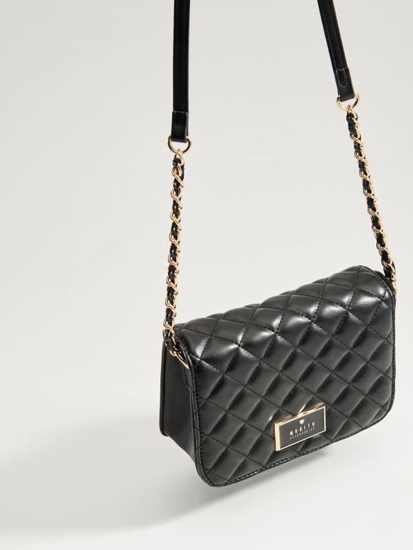Stepēta soma ar plecu siksnu - melns - VV538-99X - Mohito - 1