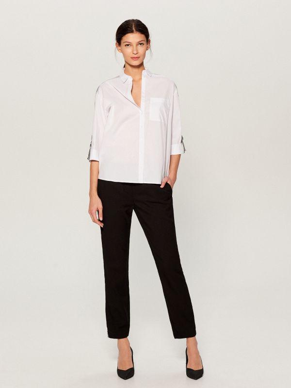 Krekls ar svītrām sānā - balts - VY263-00X - Mohito - 4
