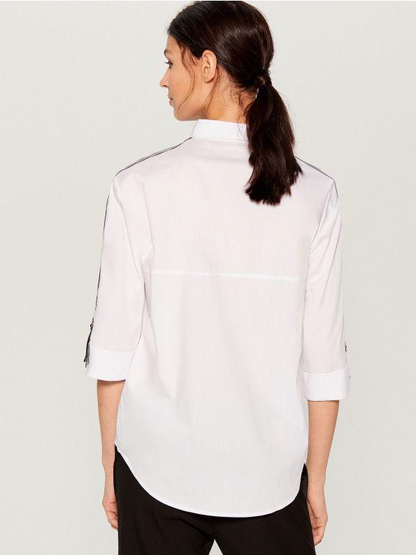 Krekls ar svītrām sānā - balts - VY263-00X - Mohito - 5