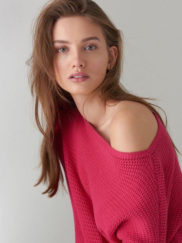 Adīts oversize džemperis - rozā - VZ808-42X - Mohito - 1