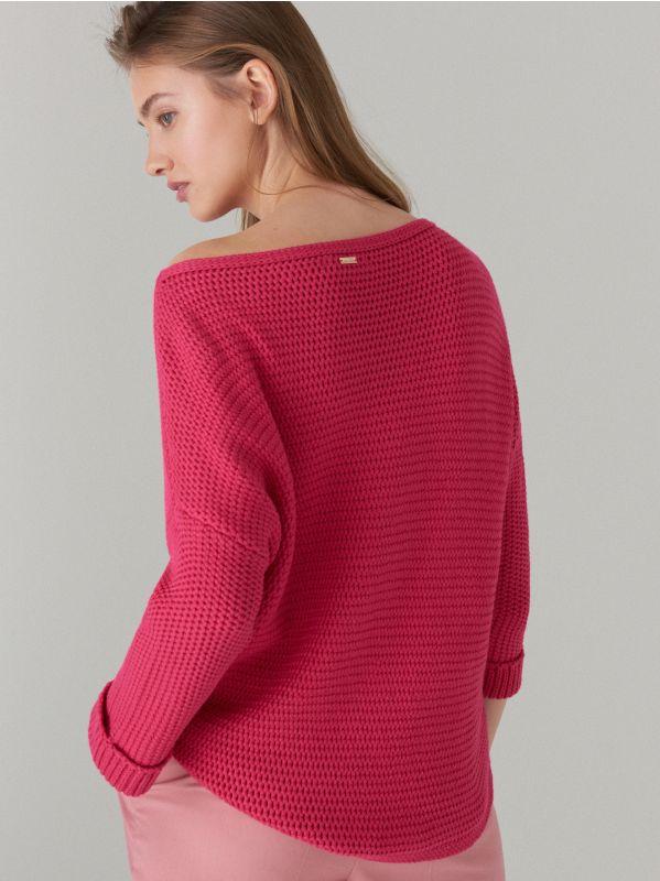 Adīts oversize džemperis - rozā - VZ808-42X - Mohito - 3