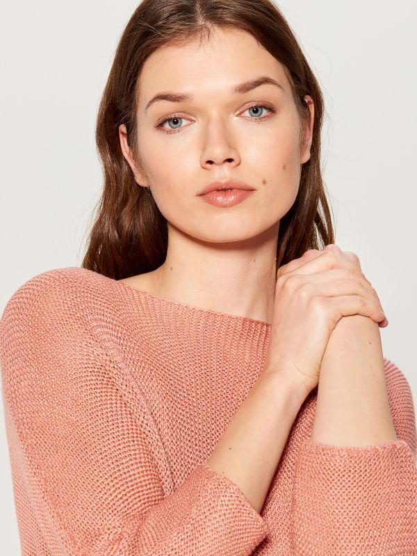 Džemperis ar trīsceturtdaļgaruma piedurknēm - rozā - VZ809-03X - Mohito - 3