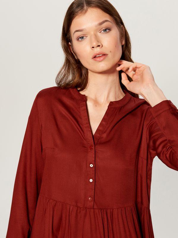 Košeľové šaty - hnedá - WA242-88X - Mohito - 2