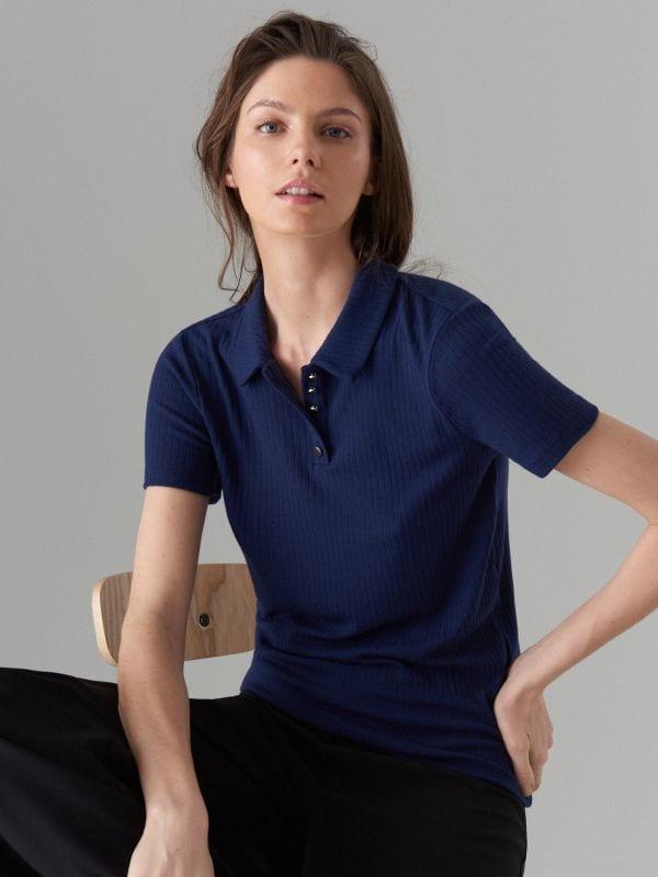 Polo krekls - zils - WA806-95X - Mohito - 1