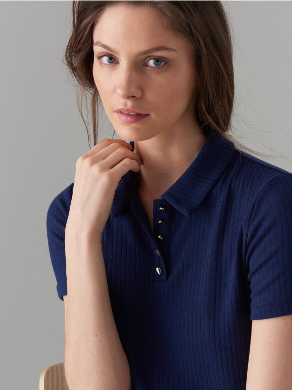 Polo krekls - zils - WA806-95X - Mohito - 2