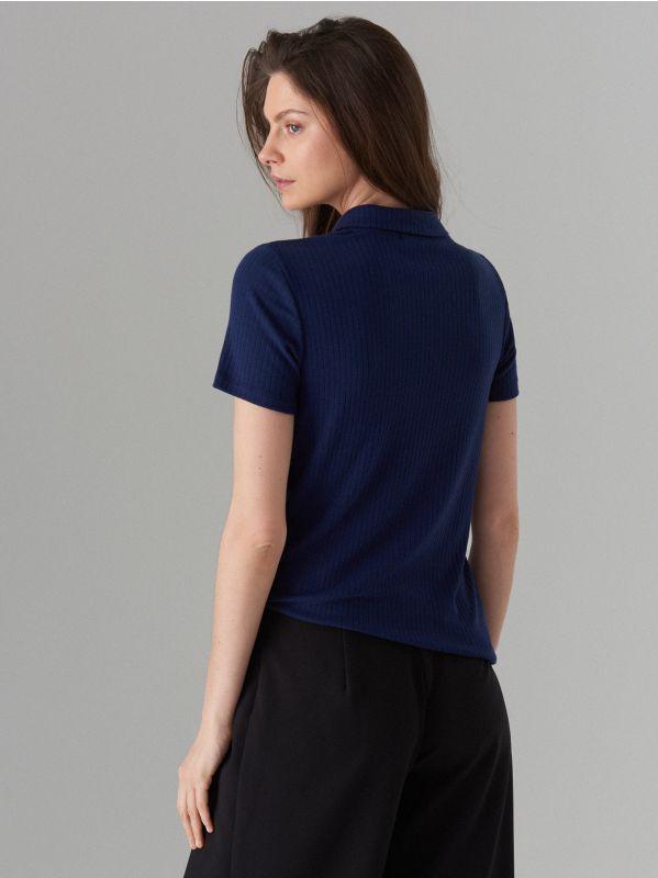 Polo krekls - zils - WA806-95X - Mohito - 3