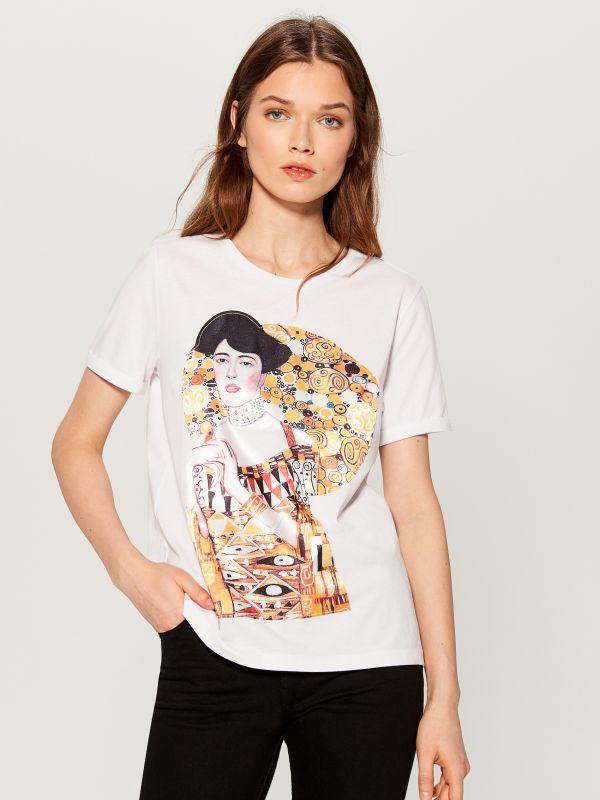 T-krekls ar apdruku - balts - WC610-00X - Mohito - 1