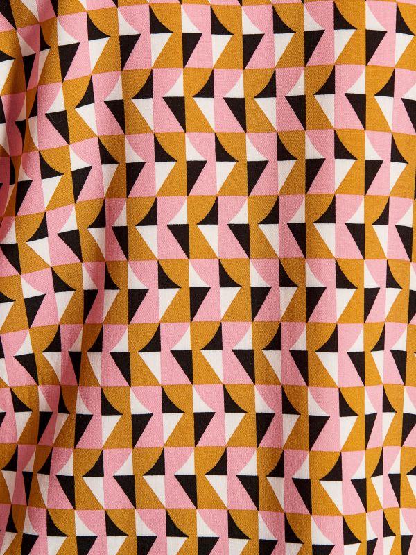 Rakstaina viskozes blūze - dzeltens - WE177-03P - Mohito - 4