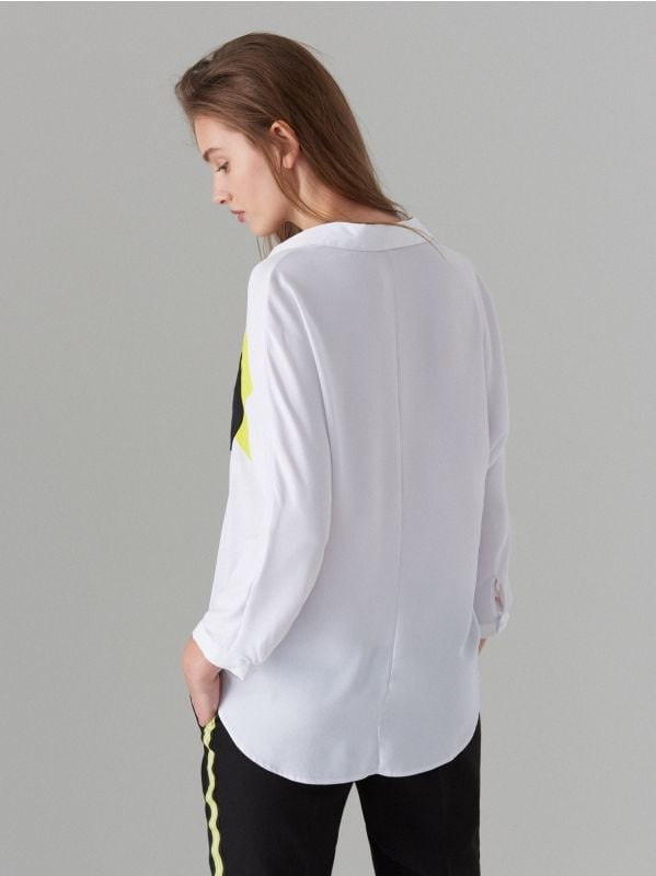 Fluo színblokkos ing - fehér - WE185-00X - Mohito - 4