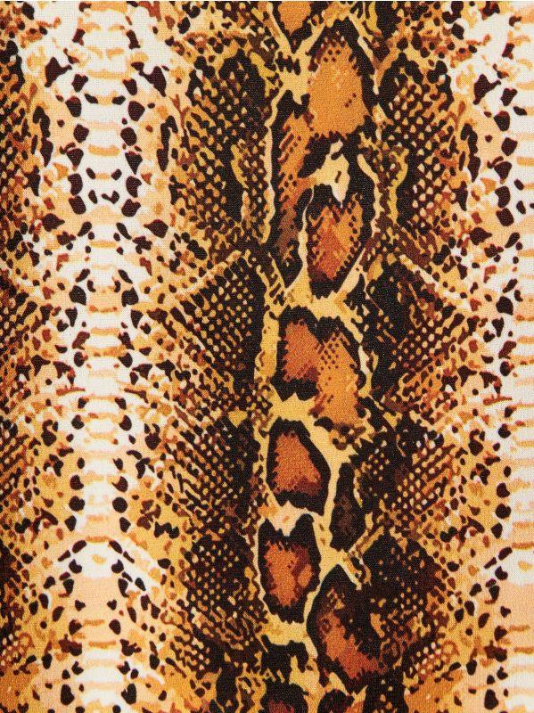 Tops ar čūskādas apdruku - bēšs - WE844-11P - Mohito - 5