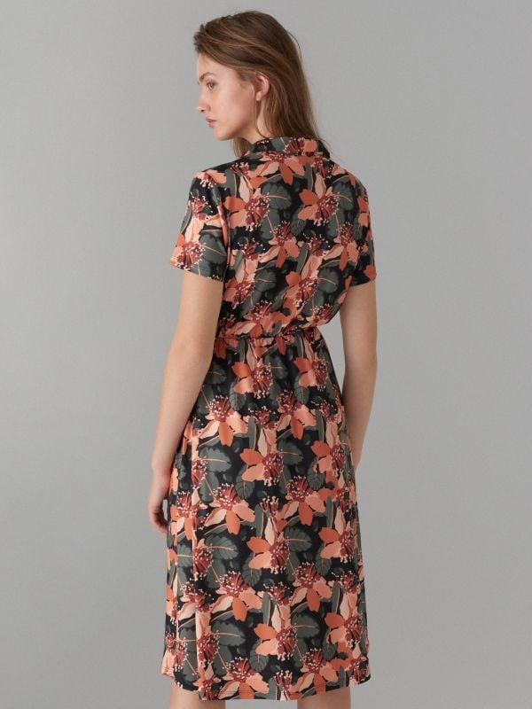 Kreklveida kleita ar ziedu rakstu - zaļš - WF485-87P - Mohito - 5