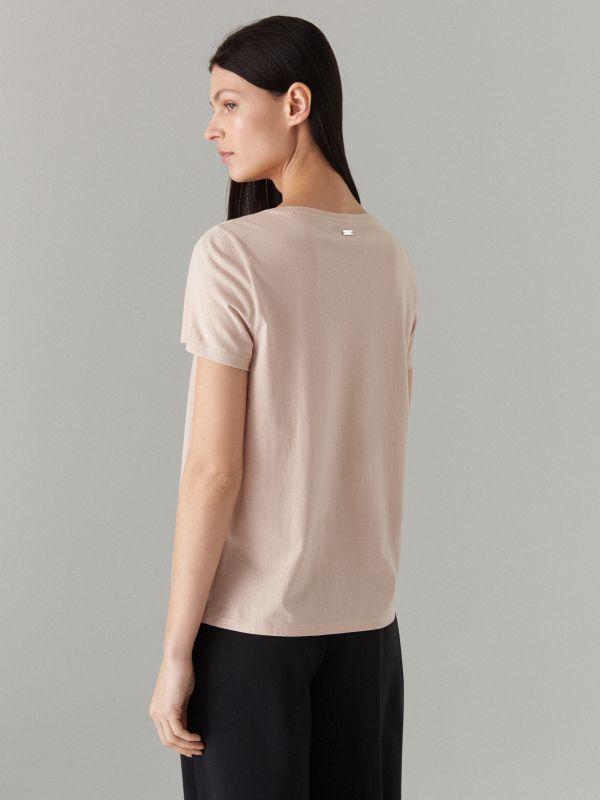 T-krekls ar apdruku - bēšs - WH439-08X - Mohito - 3