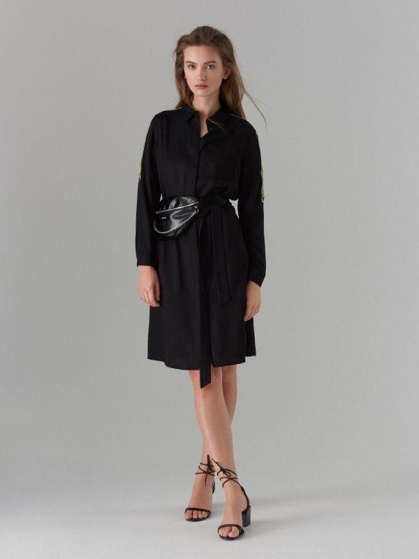 Kreklkleita ar svītrām sānos - melns - WK313-99X - Mohito - 2