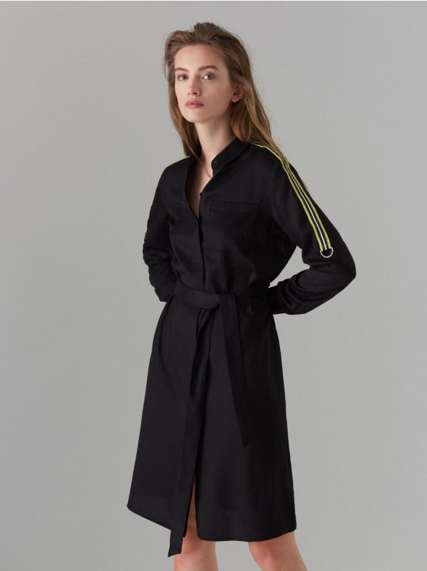 Kreklkleita ar svītrām sānos - melns - WK313-99X - Mohito - 3