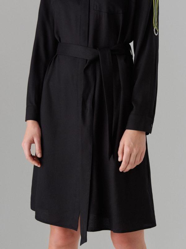 Kreklkleita ar svītrām sānos - melns - WK313-99X - Mohito - 4