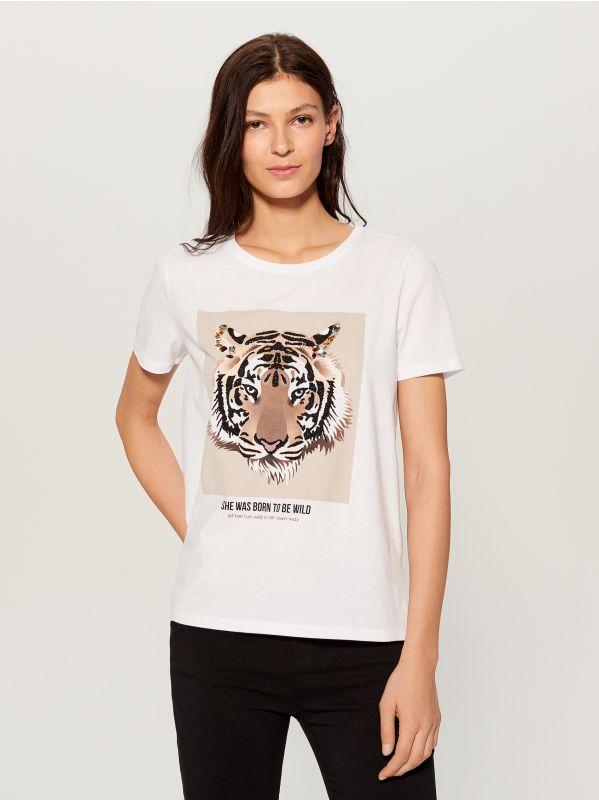 T-krekls ar apdruku - balts - WL111-00X - Mohito - 1