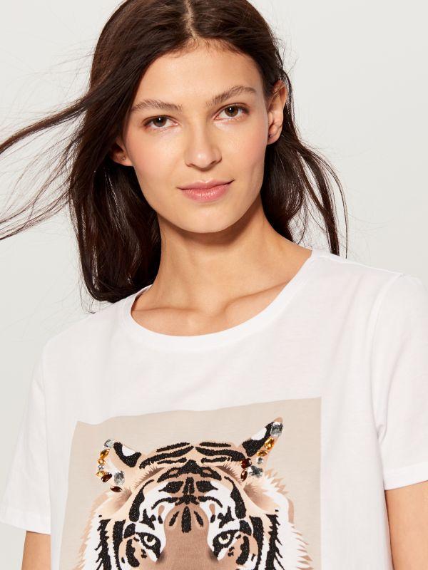T-krekls ar apdruku - balts - WL111-00X - Mohito - 2