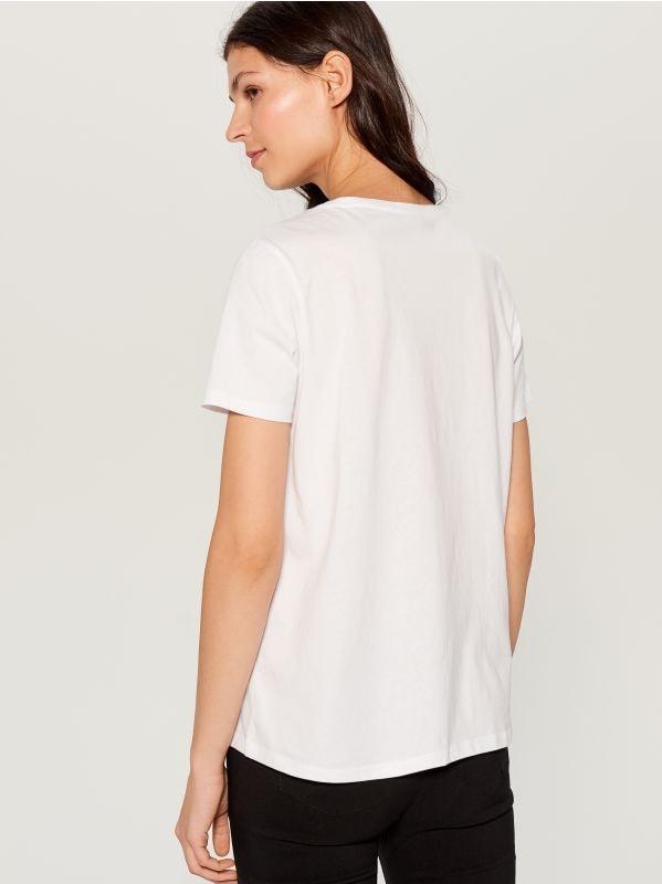 T-krekls ar apdruku - balts - WL111-00X - Mohito - 3