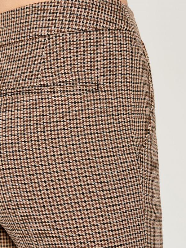 Rūtainas šauras bikses - bēšs - WP109-08P - Mohito - 5