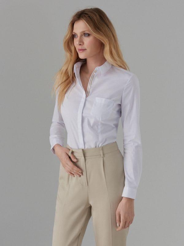 d932c9013d4f Рубашка типа боди · Рубашка типа боди - Белый - WX930-00X - MOHITO