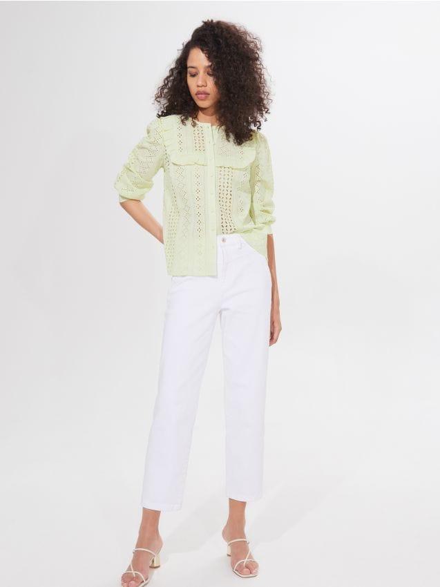 Transparentna koszula w grochy, MOHITO, YF517 99P