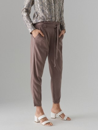 Lyocell paperbag trousers