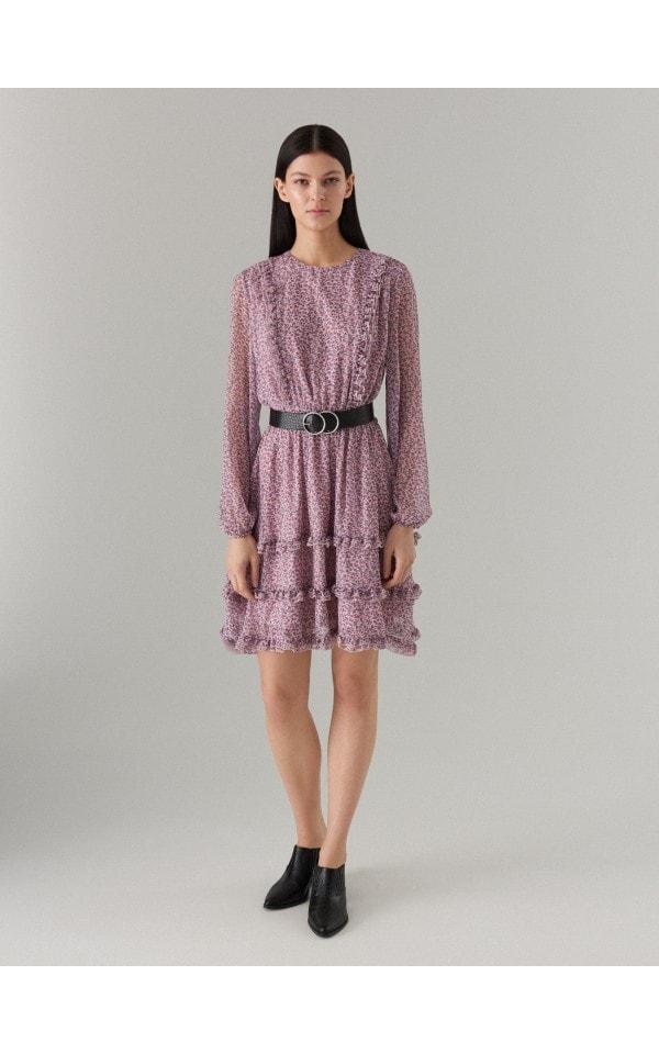 Mini sukienka w kwiaty, MOHITO, WT515-03P