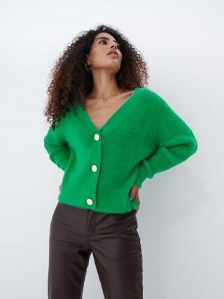 Krótki sweter z guzikami
