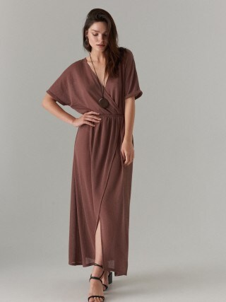 Kopertowa maxi sukienka