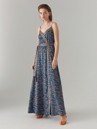 Maxi sukienka we wzory