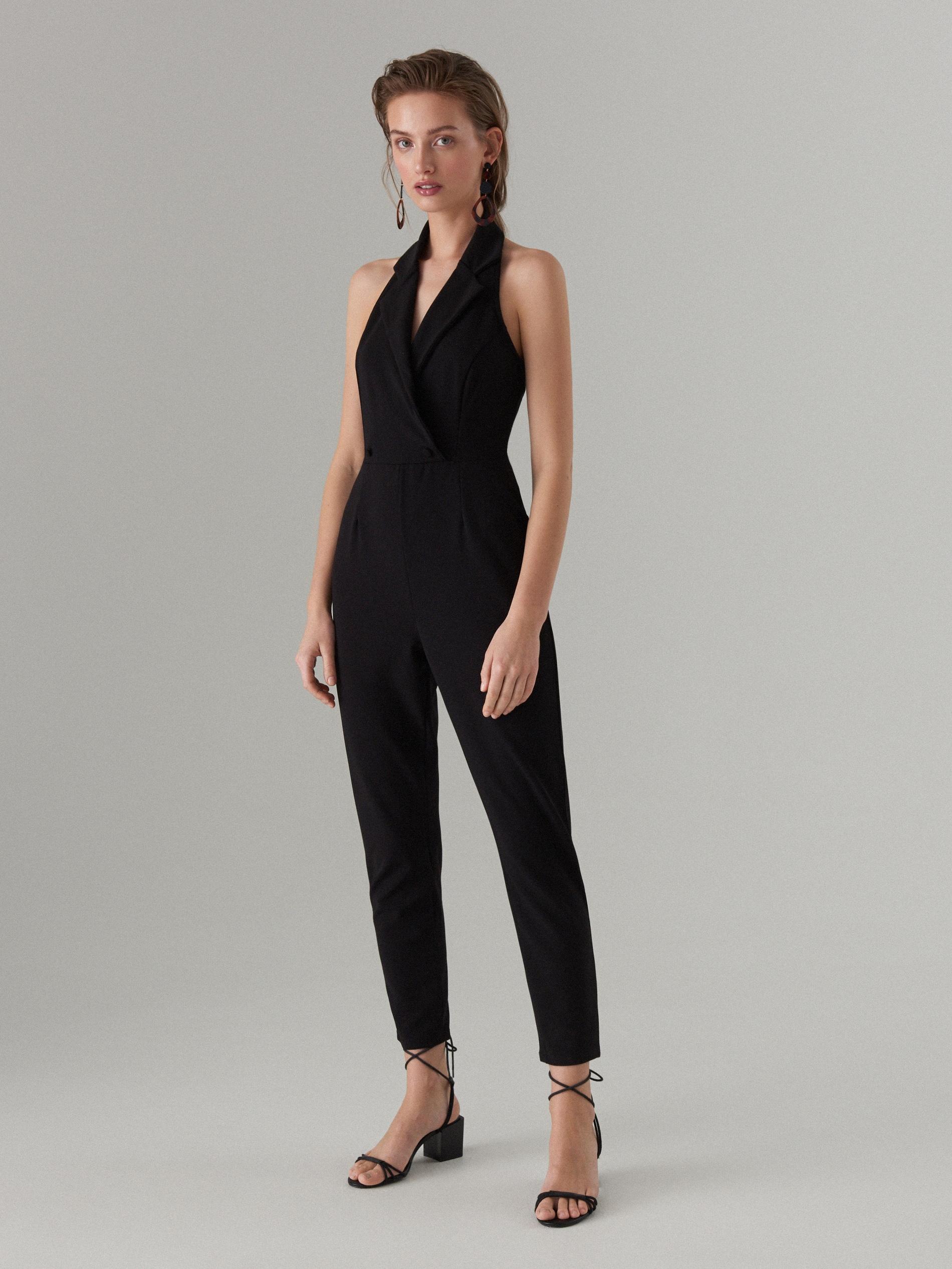 89433b807a Blazer neck jumpsuit - black - WF518-99X - Mohito - 1