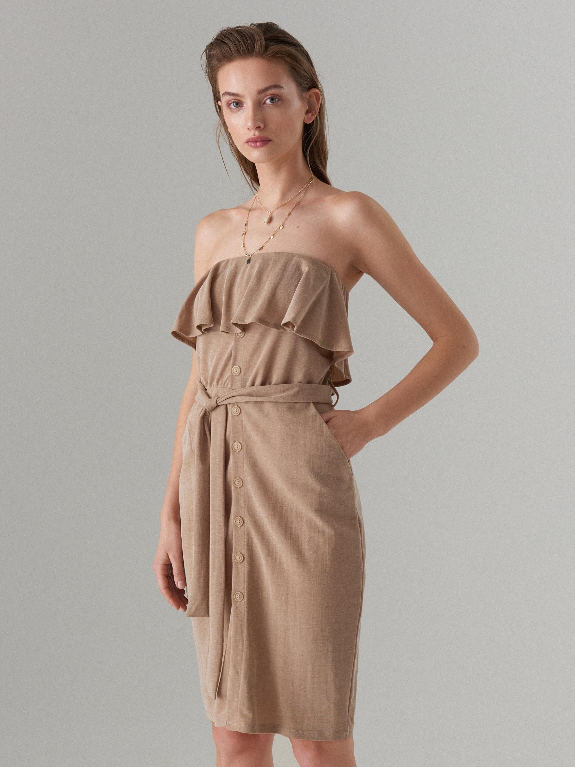 a154b00e2e2b Off shoulder dress with tie - purple - WH923-04X - Mohito - 3