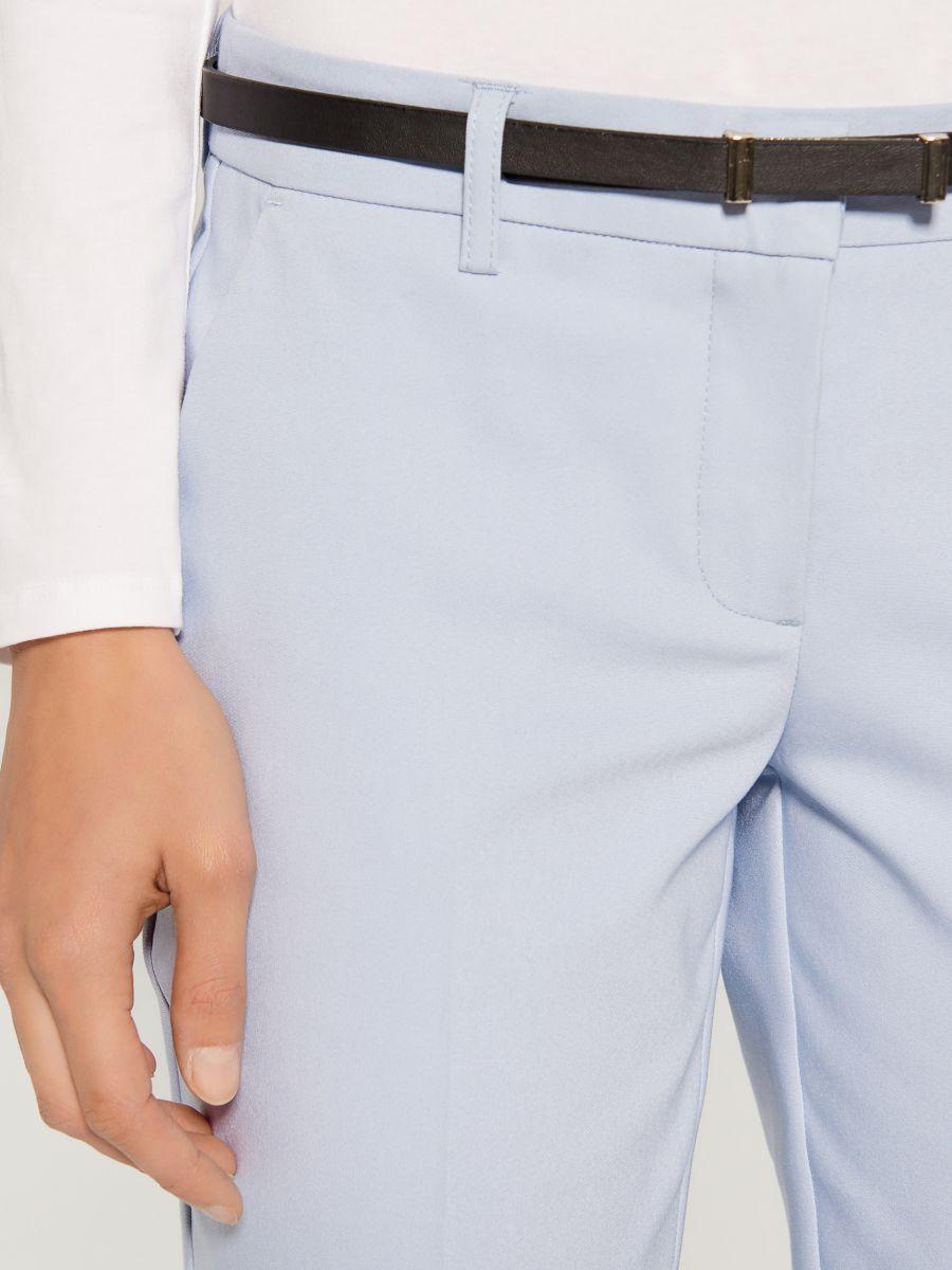 Cigarette pants with belt - blue - UN362-05X - Mohito - 3